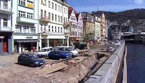 Opravy v centru Karlových Varů