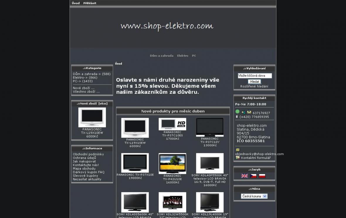 E-shop shop-elektro.com