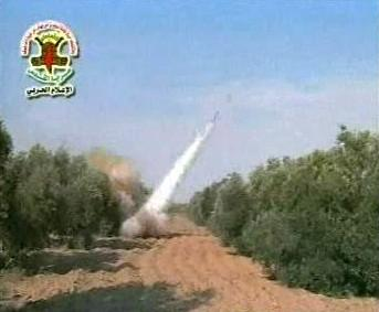Palestinská raketa odpálená na Izrael