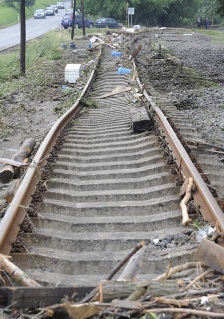 Zničená trať