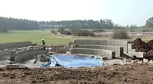 Stavební práce v Letech u Písku
