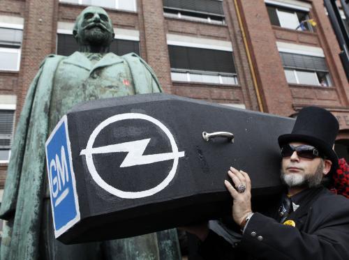 Protesty zaměstnanců Opelu