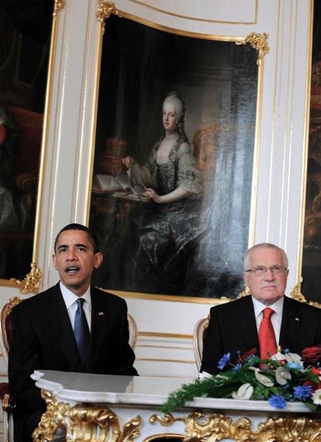 Barack Obama a Václav Klaus