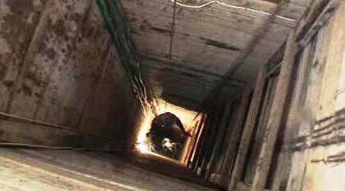 Tunel na hranicích pásma Gazy