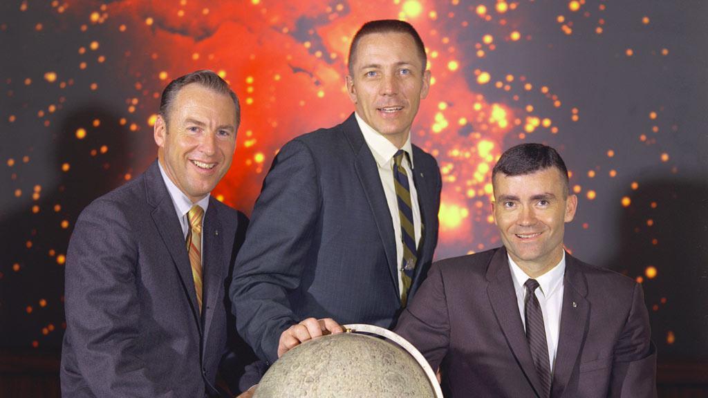 Zleva: Jim Lovell, John Swigert a Fred Haise