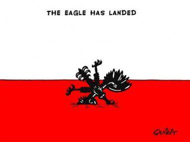 Karikatura belgického deníku