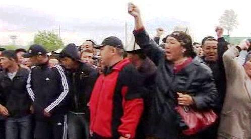 Příznivci kyrgyzského prezidenta