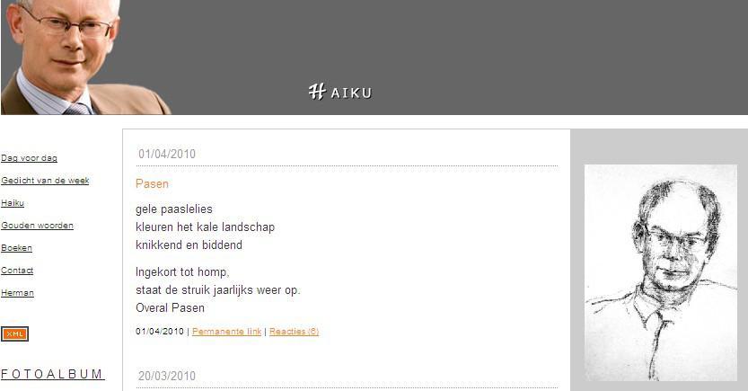 Blog Hermana Van Rompuye s haiku