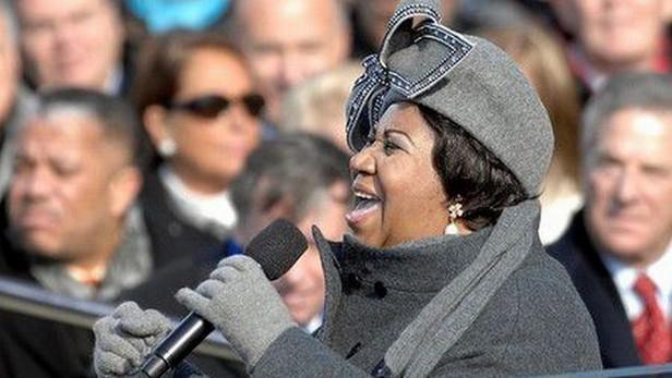 Zpěvačka Aretha Franklinová