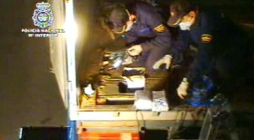 Španělská policie odhalila drogy