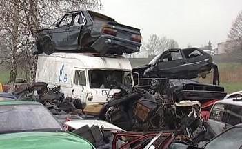 Autovrakoviště v Přešťovicích
