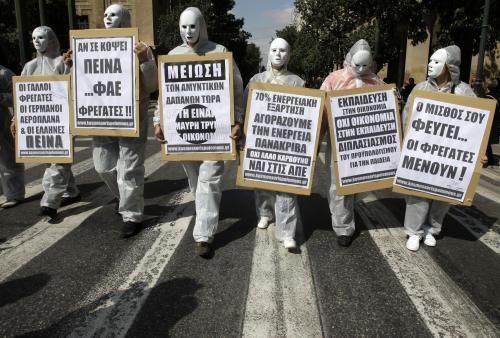 Protesty během řecké stávky
