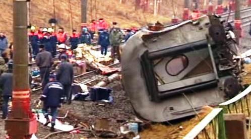 pumový útok na vlak z Moskvy do Petrohradu