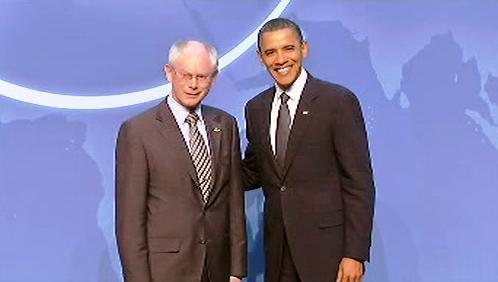 Herman Van Rompuy a Barack Obama