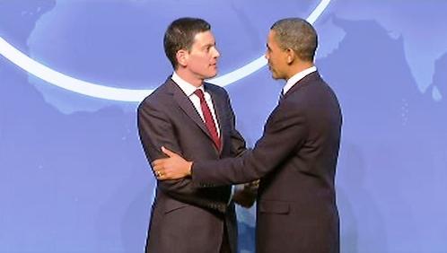 David Miliband a Barack Obama