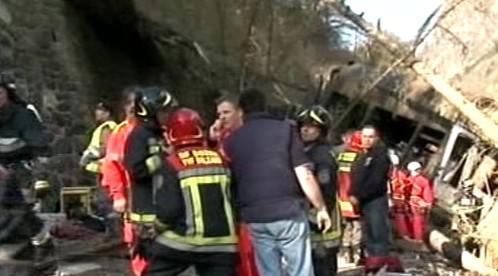 Záchranáři u nehody vlaku