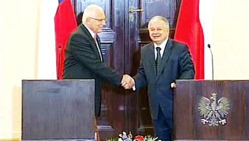 Václav Klaus a Lech Kaczyński