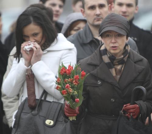 Polský lid truchlí