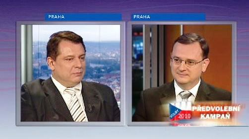 Jiří Paroubek a Petr Nečas