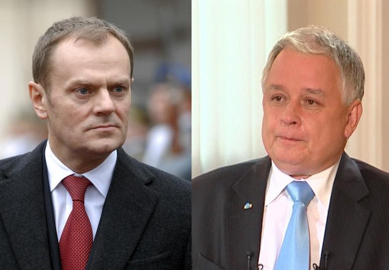 Donald Tusk a Lech Kaczyński