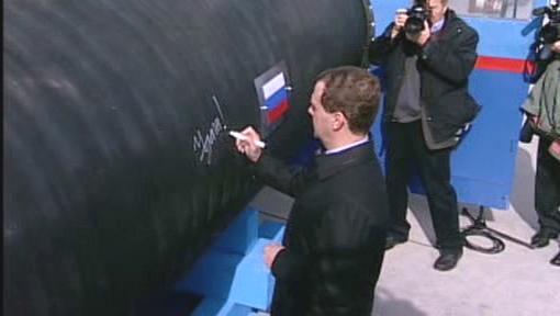 Slavnostní zahájení stavby Nord Streamu