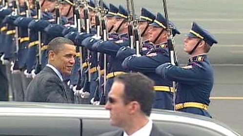 Barack Obama na ruzyňském letišti