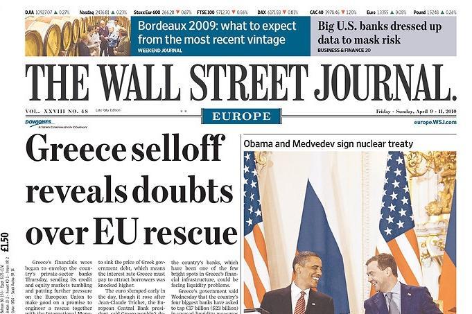 Wall Street Journal o podpisu smlouvy START