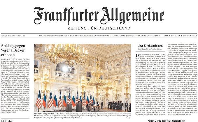 Frankfurter Allgemeine o podpisu smlouvy START