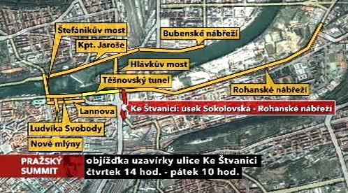 Pražský summit a omezení v dopravě