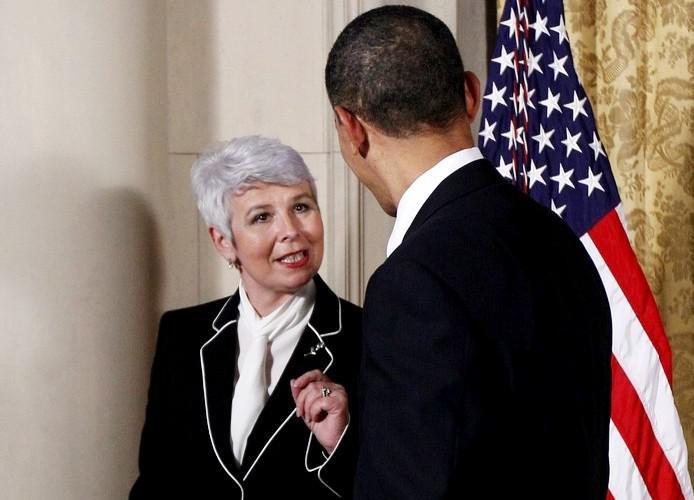 Jadranka Kosorová debatuje s Barackem Obamou