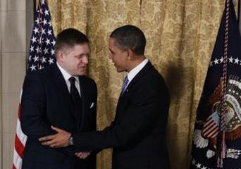 Robert Fico a Barack Obama