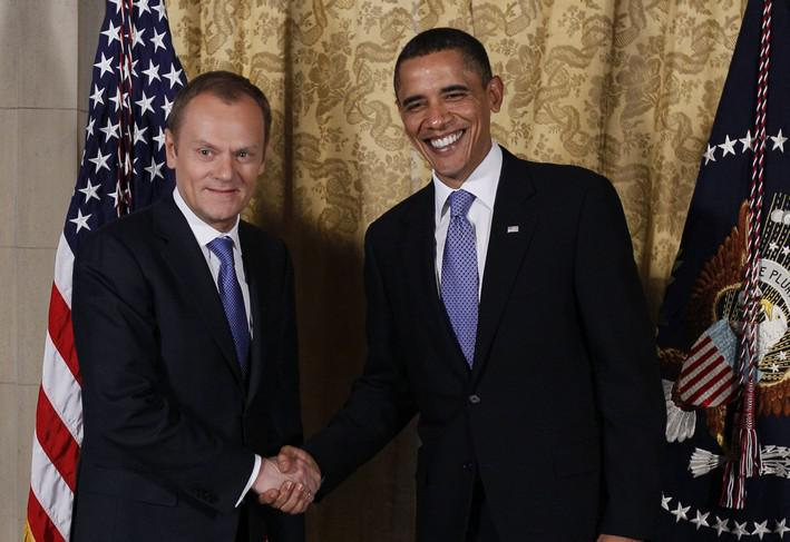 Donald Tusk a Barack Obama