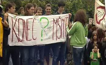 Protest proti státní maturitě