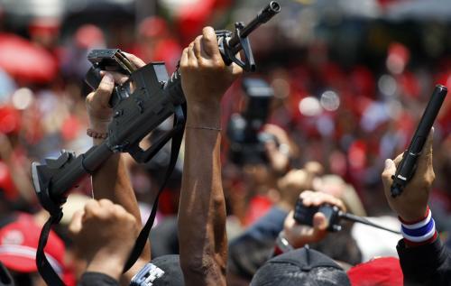 Zbraně ukořistěné parlamentní ochrance