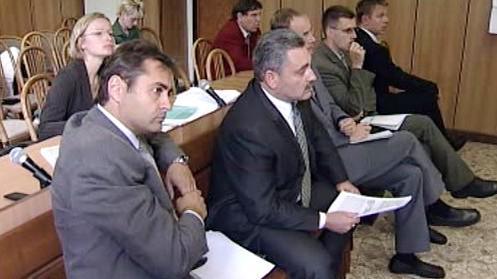 Jiří Berka na lavici obžalovaných