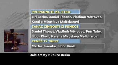 Tresty v kauze soudce Berky
