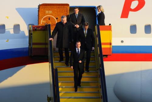 Dmitrij Medvěděv přicestoval na Slovensko