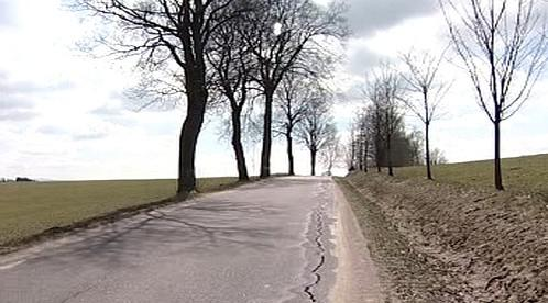 Popraskaná silnice