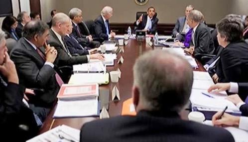 Setkání Baracka Obamy se šéfy tajných služeb