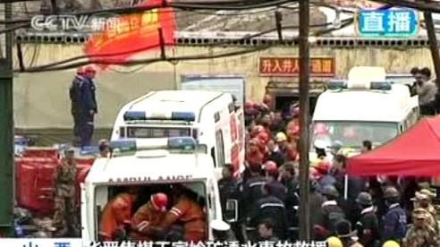 Záchranáři v čínském dole