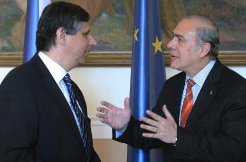Jan Fischer a Ángel Gurría