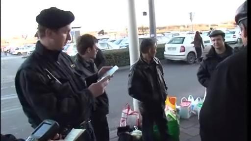 policisté kontrolují víza