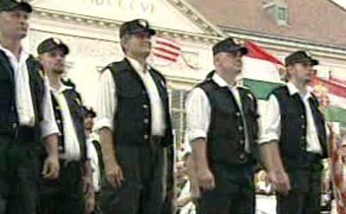 Příznivci krajní pravicev Maďarsku