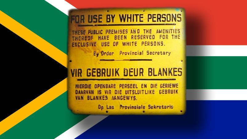 Nápis v JAR v období apartheidu