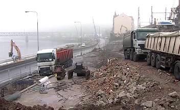 Výstavba protipovodňové zdi