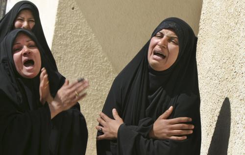 Iráčanky oplakávají oběti násilností