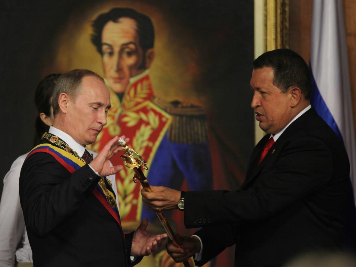 Putin na návštěvě Venezuely