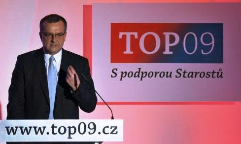 Miroslav Kalousek na sněmu TOP 09