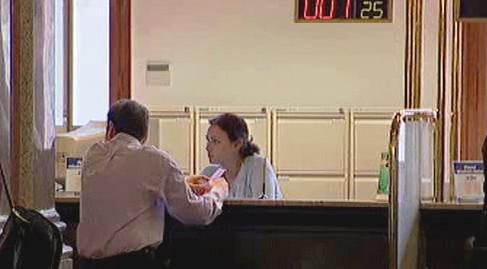 Klient v bance