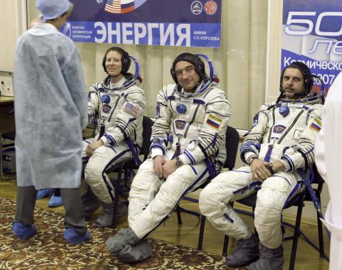 Rusko-americké trio nových členů ISS